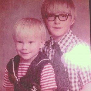 It's my birthday and I'm going to start telling some stories. I'm the blond kid.